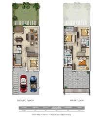 akoya casablanca boutique villas cluster floor layout plan