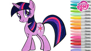 my little pony coloring book twilight sparkle mlp princess