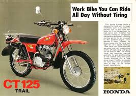rare in the us u2013 1977 honda ct125 trail bike urious