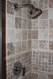 tiled shower stall master bath shower stall travertine tile master bath shower stall travertine tile