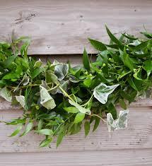 soft ruscus and variegated ivy u0027swag u0027 garland