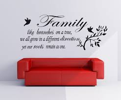 wall art ideas design red vinyl wall art family like branches