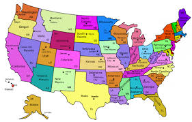 North Dakota Time Zone Map by Usa Map With All States And Capitals Maps Of Usa
