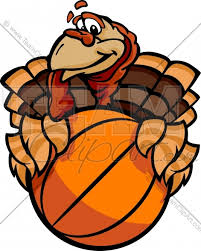 basketball happy thanksgiving turkey vector