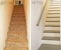 before u0026 after carpeted stairs get painted home pinterest