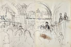 ronald searle tribute court drawing