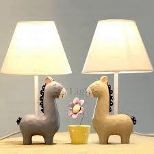 cute horse kids table lamps resin fixture