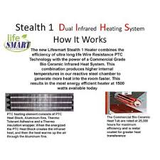 how do infrared heat ls work lifesmart sea ls stealth 1 deluxe stealth series stealth 1 dual tech
