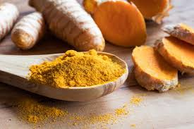 curcuma en cuisine turmeric powder and fresh sliced turmeric root stock image image