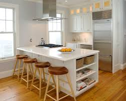 houzz kitchen islands with seating traditional l shaped kitchen idea in chicago with glass front