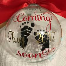 floating pregnancy announcement ornament pregnancy ornament and etsy