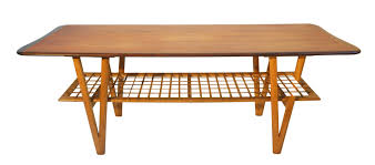 vintage danish teak coffee table with v shaped legs for sale at pamono