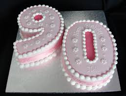 90th birthday cakes numerals bespoke