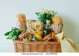 italian food gift baskets gift basket stock images royalty free images vectors