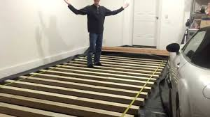 garage floor vapor barrier and joists
