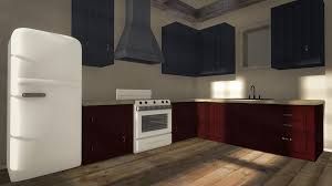 free 3d kitchen design software with nice kitchen hood and white