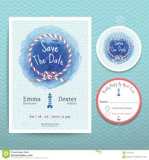 Wedding Invitations And Rsvp Cards Nautical Water Colour Wedding Invitation And Rsvp Card