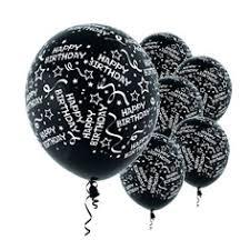 black balloons confetti balloons black 6 pack birando