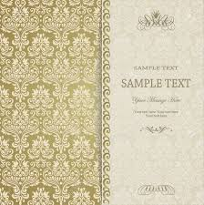 Luxurious Decorative Element Vintage Background Antique Greeting Card Invitation With Lace
