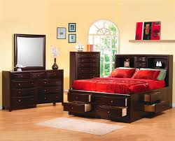 bookcase bedroom set storage bed 6 piece bedroom set in rich deep cappuccino finish by