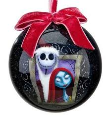 skellington and sally decoupage ornament 2011 from our