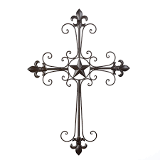 Iron Home Decor by Amazon Com Gifts U0026 Decor Lone Star Wall Cross Spiritual