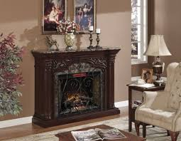 Electric Fireplace With Mantle Interior Design