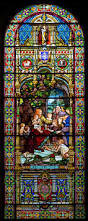 jesus and the children this is a huge stained glass window at