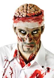 Bloody Doctor Halloween Costume Bloody Brain Headpiece Gory Fancy Dress Accessory Escapade Uk