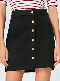 high waisted skirt button fly high waisted mini skirt black skirts s zaful