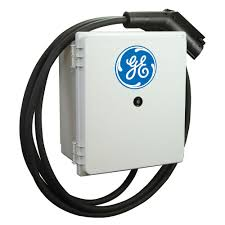 ge ev charger indoor outdoor level 2 durastation wall mount with