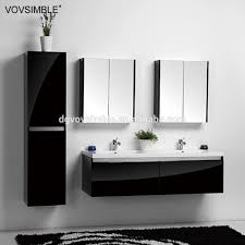 Furniture Bathroom Vanities by High Gloss Black Finish Bathroom Vanity High Gloss Black Finish
