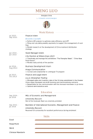 Paraprofessional Resume Sample by Finance Intern Resume Samples Visualcv Resume Samples Database