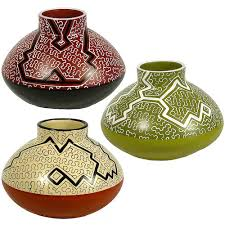 fair trade home decor ceramic rounded pot with stack top from peru fair trade handmade