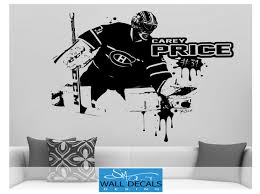 carey price large vinyl wall decal sticker montreal canadiens fan carey price large vinyl wall decal sticker montreal canadiens fan goalie goaltender habs kids bedroom ice hockey wall decor wall art jersey