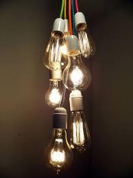 Edison Bulb Light Fixtures 7 Cluster Bulbs Pendant Light Modern Chandelier Custom Colors