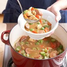 lot of 6 gumbo soup and sausage gumbo