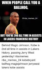 Magic Johnson Meme - when people call you a ballhog memes 24 but youre 2ndalltimein