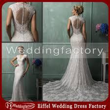 elegant gypsy wedding dress mermaid v neck illusion keyhole back