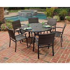 6 Seat Patio Dining Set 6 7 Person Round Patio Dining Sets Patio Dining Furniture
