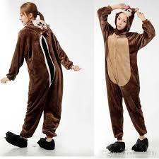 2017 chipmunk onesies costumes sleepwear animal onesies