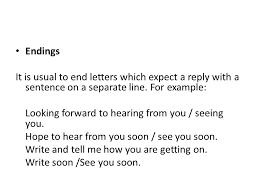 informal letters beginnings ppt video online download