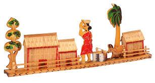 Home Decoration Items India Showpiece Of A Village Scene U2013 Handcrafted In Bamboo U2013 Unique