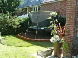 Trampoline Backyard Charming Trampoline Small Backyard Images Design Ideas Amys Office