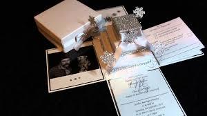 box wedding invitations snow exploding box wedding invitation