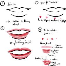 how i draw lips by leekahbosu on deviantart