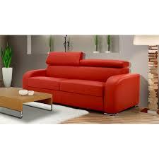 canapé convertible orange canapé lit rapido tissu avec appuis tête ajustables