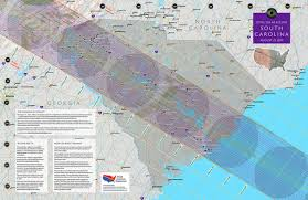 road map of south carolina 2017 total solar eclipse in south carolina