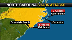 North Carolina Map Interactive Map Shows Location Of Shark Attacks Along The Carolina