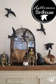 black birds for halloween halloween birdhouse country design style
